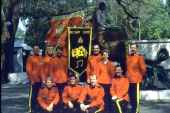 87 RCMP Bison Band in India