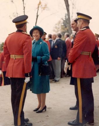 Ken Moore with the Queen