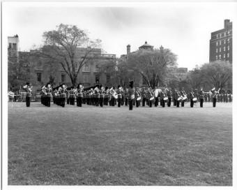 RCMP Battle Honours presentation w Guards band 1957