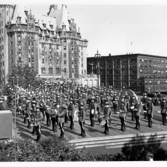 Royal Visit Ottawa w Army & Air Force Bands 1951